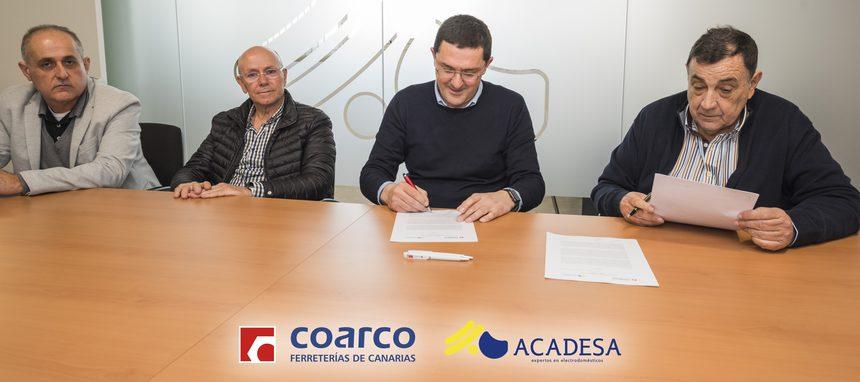 Coarco y Acadesa firman un acuerdo de colaboración