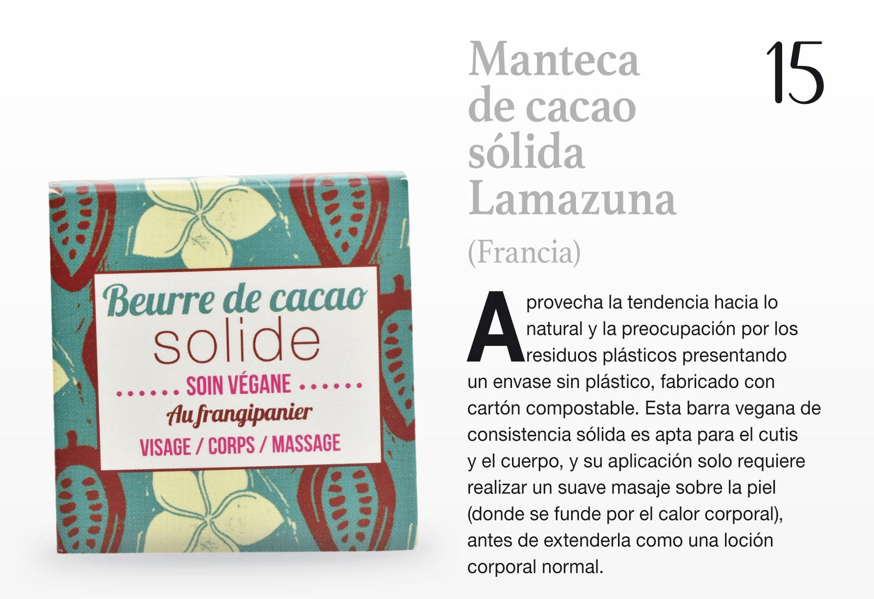 Manteca de cacao sólida Lamazuna (Francia)