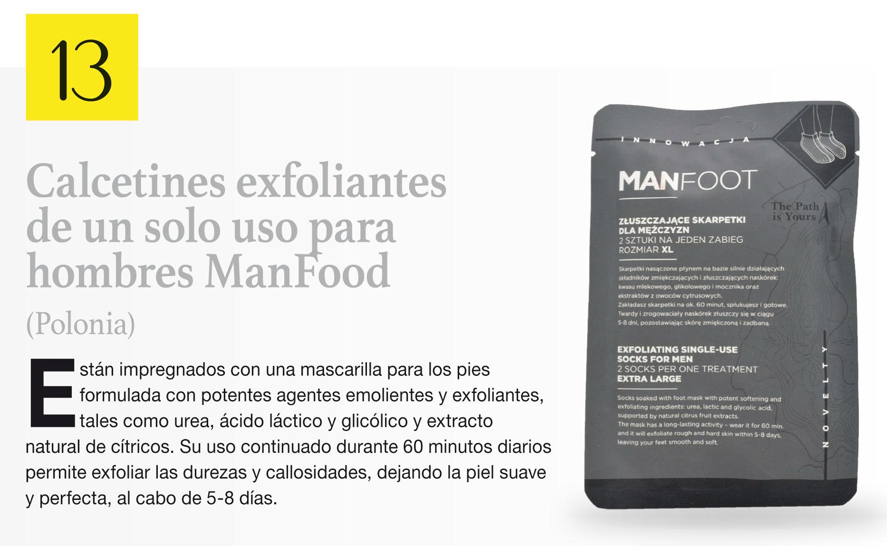 Calcetines exfoliantes de un solo uso para hombres ManFood (Polonia)