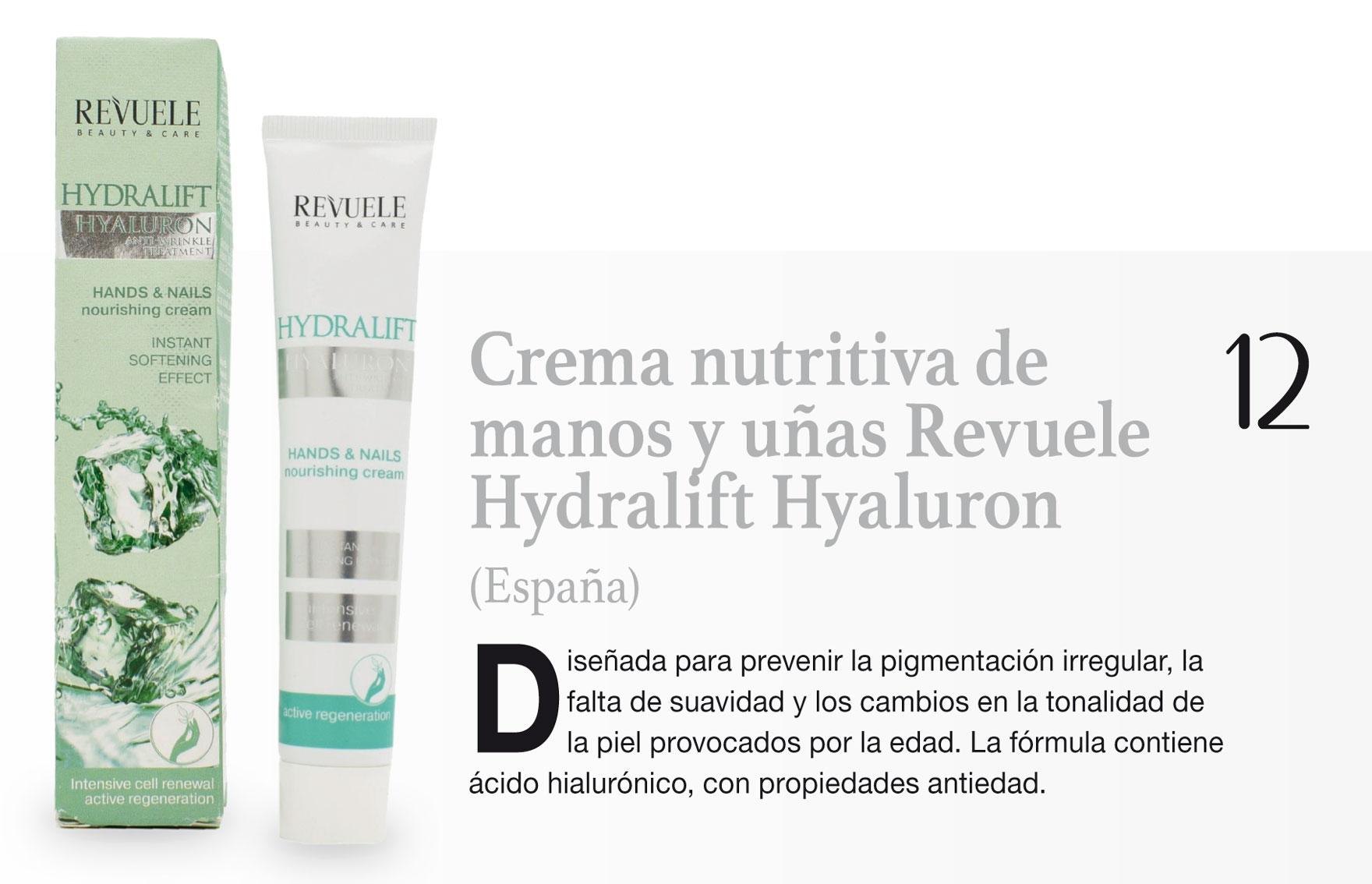 Crema nutritiva de manos y uñas Revuele Hydralift Hyaluron (España)