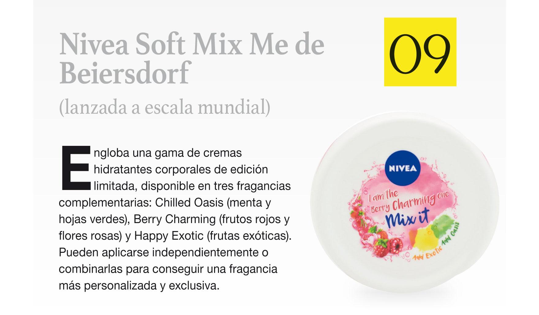 Nivea Soft Mix Me de Beiersdorf (lanzada a escala mundial)