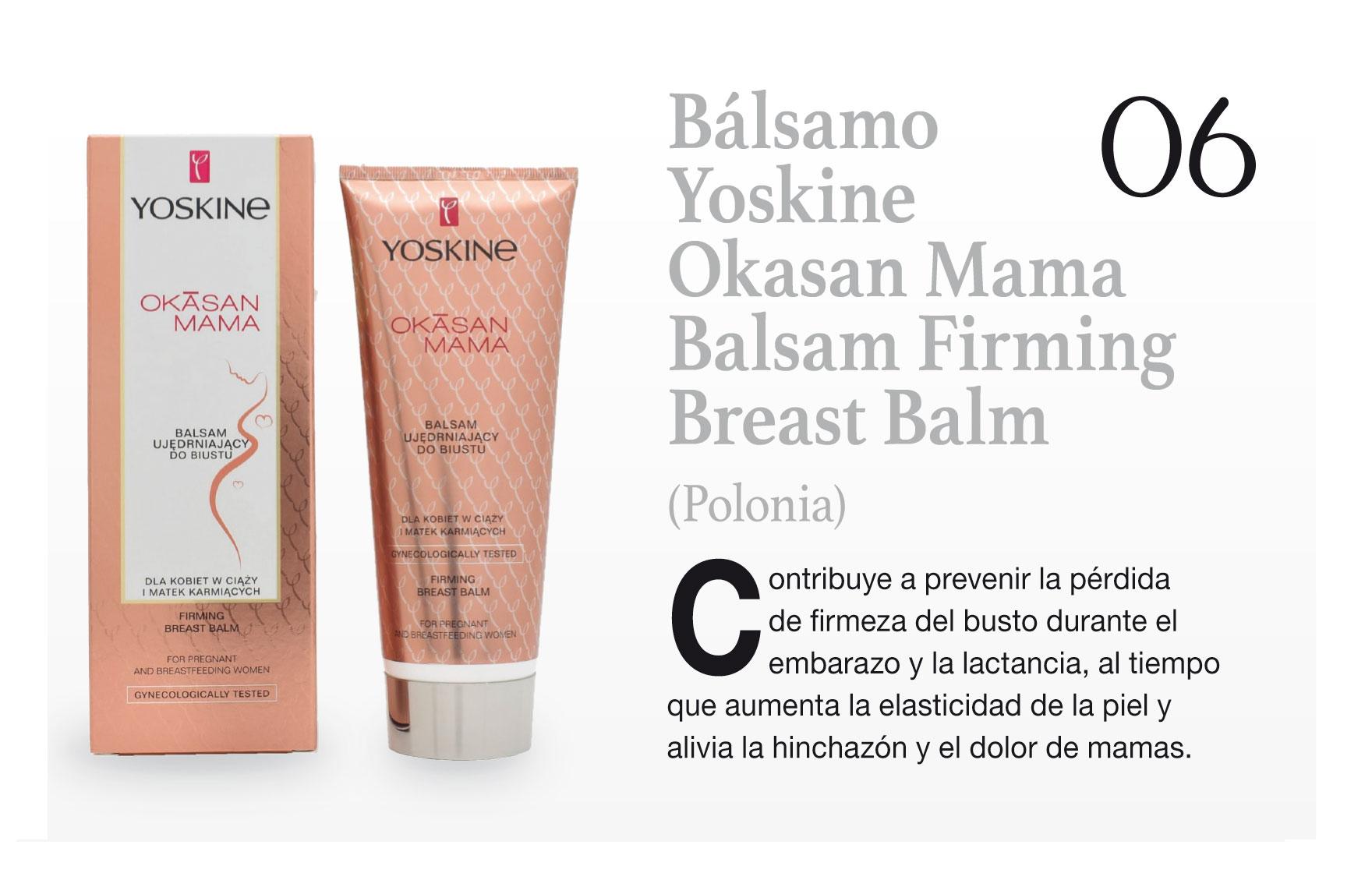 Bálsamo Yoskine Okasan Mama Balsam Firming Breast Balm (Polonia)