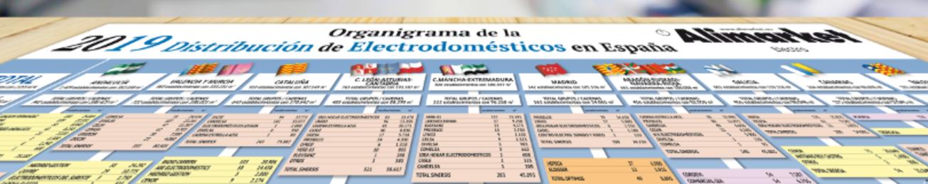 Informe 2019 del sector de Distribución minorista de Electrodomésticos por superficie en España