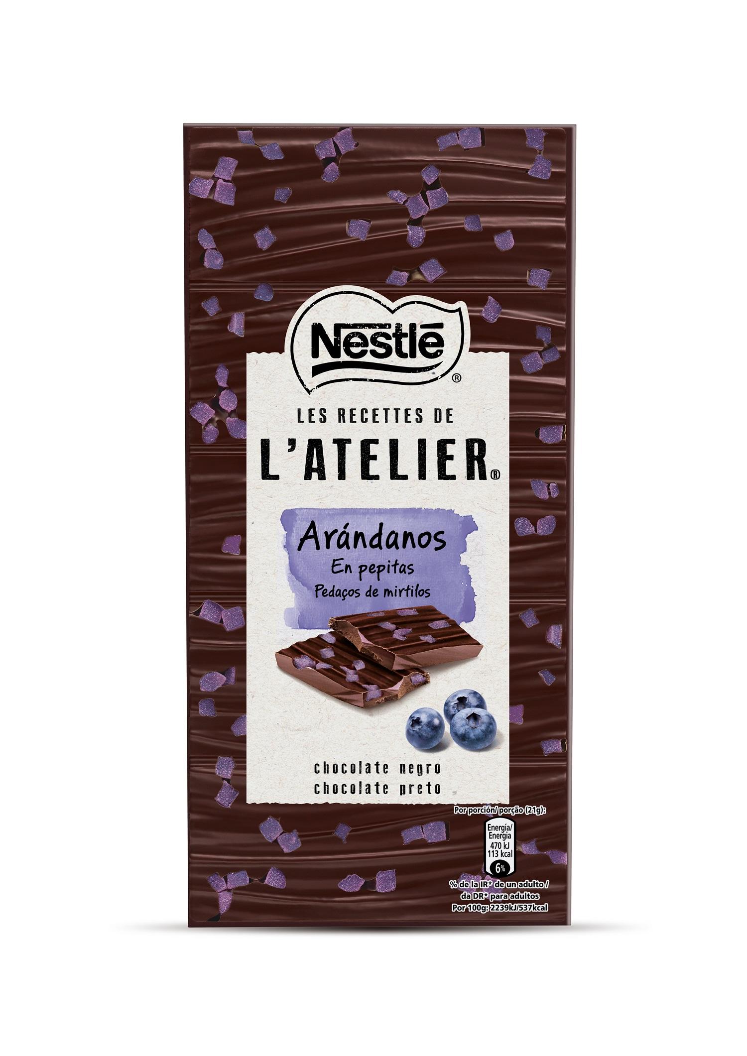 Nestlé amplía la gama L'Alerier con tabletas de arándanos y raw