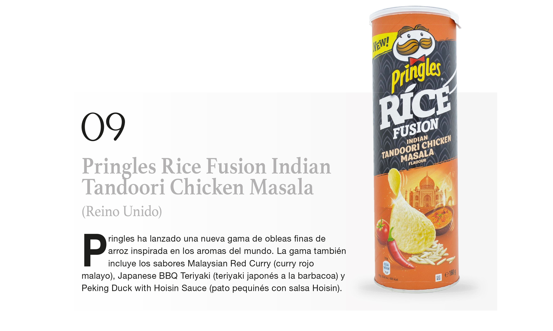 Pringles Rice Fusion Indian Tandoori Chicken Masala (Reino Unido)