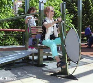 Se pone en marcha un parque de ejercicio físico y cognitivo para mayores en Bilbao