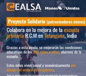 Cealsa colabora con Manos Unidas en la mejora de una escuela en India