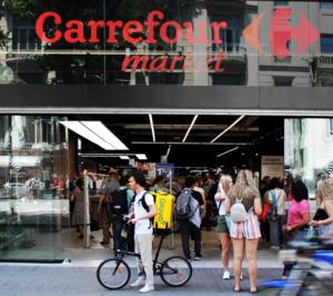 Carrefour repartirá en 30 minutos con Glovo en Sevilla y Valencia