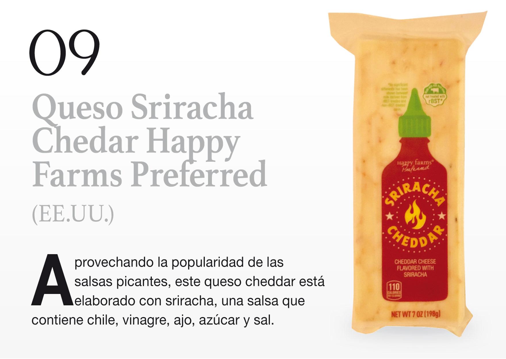 Queso Sriracha Chedar Happy Farms Preferred (EE.UU.)