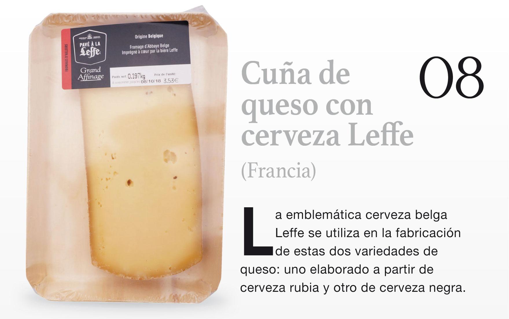 Cuña de queso con cerveza Leffe (Francia)