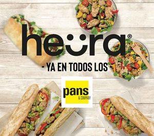 Heura llega a los bocadillos y las ensaladas de Pans & Company