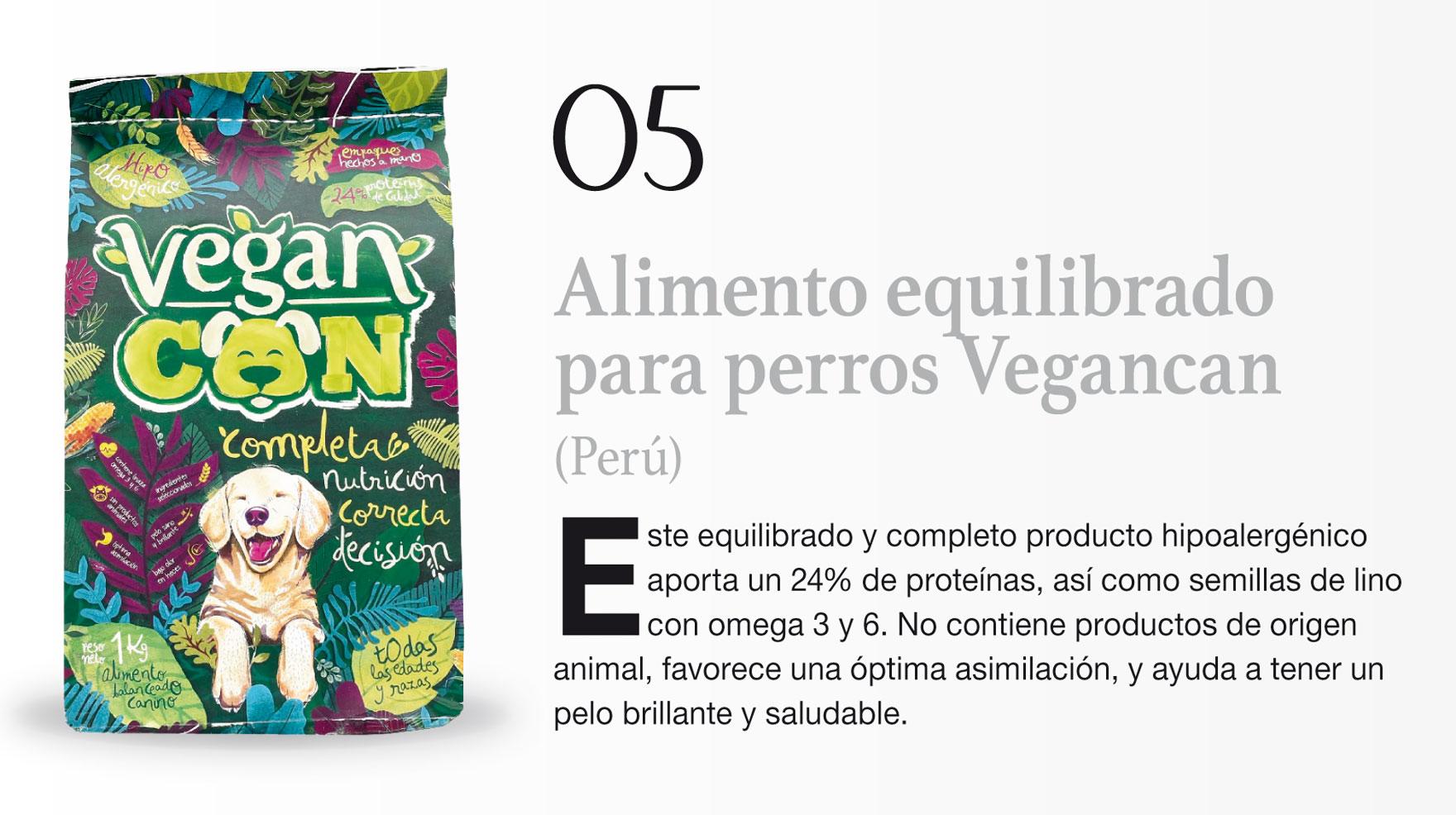 Alimento equilibrado para perros Vegancan (Perú)