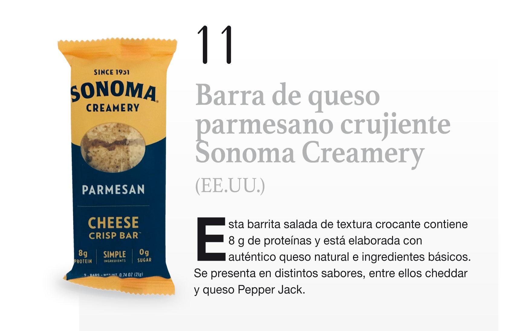 Barra de queso parmesano crujiente Sonoma Creamery (EE.UU.)