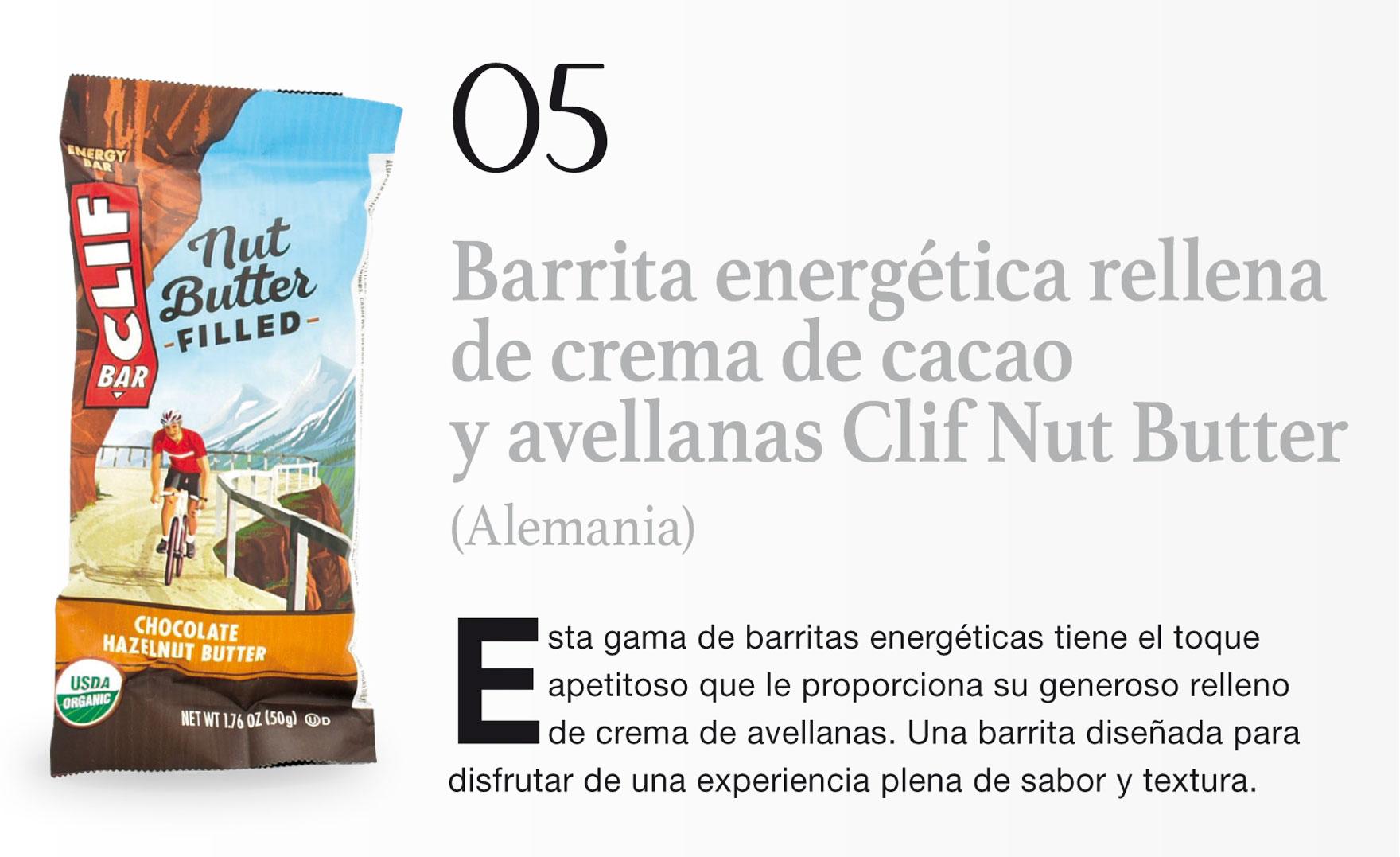 Barrita energética rellena de crema de cacao y avellanas Clif Nut Butter (Alemania)