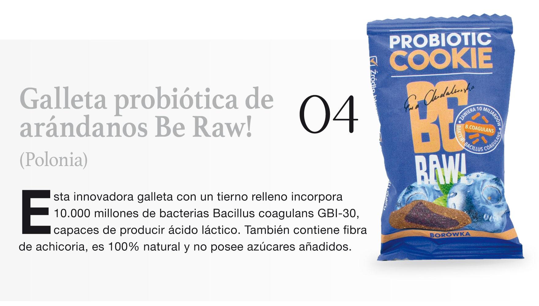 Galleta probiótica de 04 arándanos Be Raw! (Polonia)