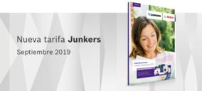 Junkers actualiza su tarifa de precios