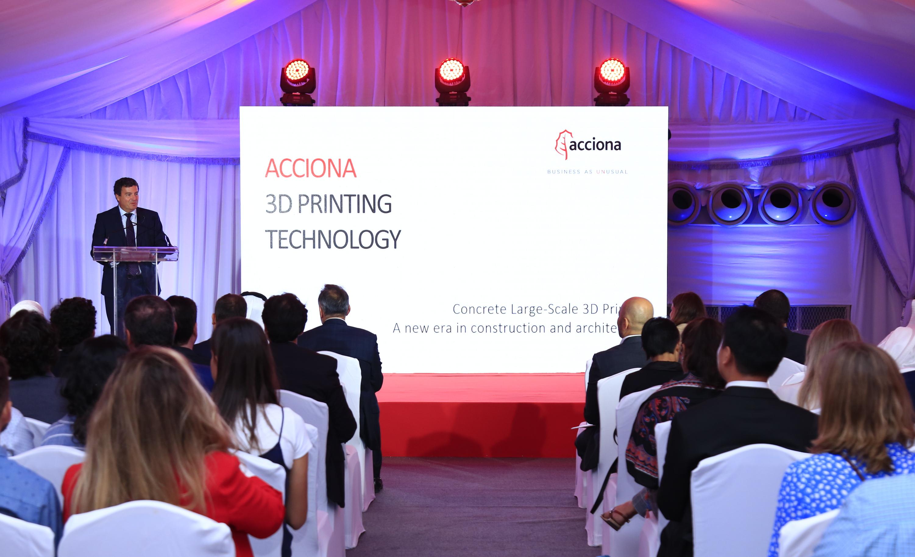 Acciona apuesta por Dubái para implantar la impresión 3D en la edificación