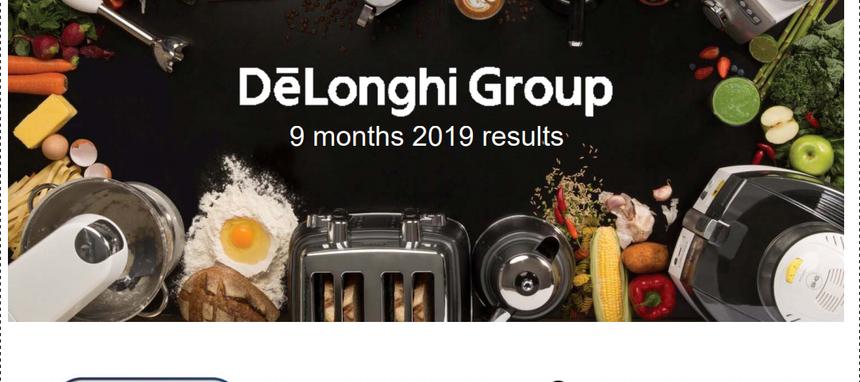 Delonghi Group creció el 3% en el tercer trimestre