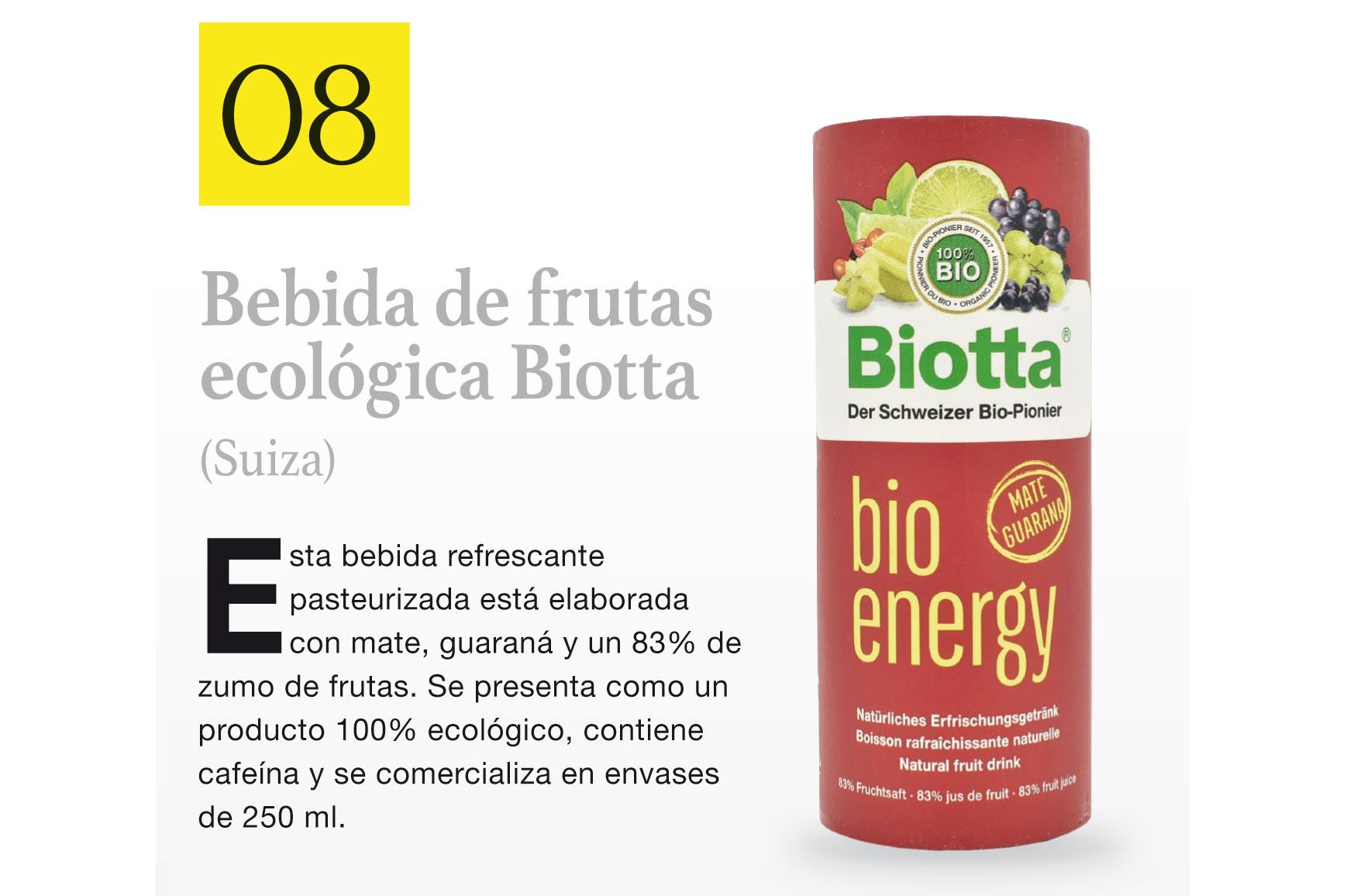 Bebida de frutas ecológica Biotta (Suiza)