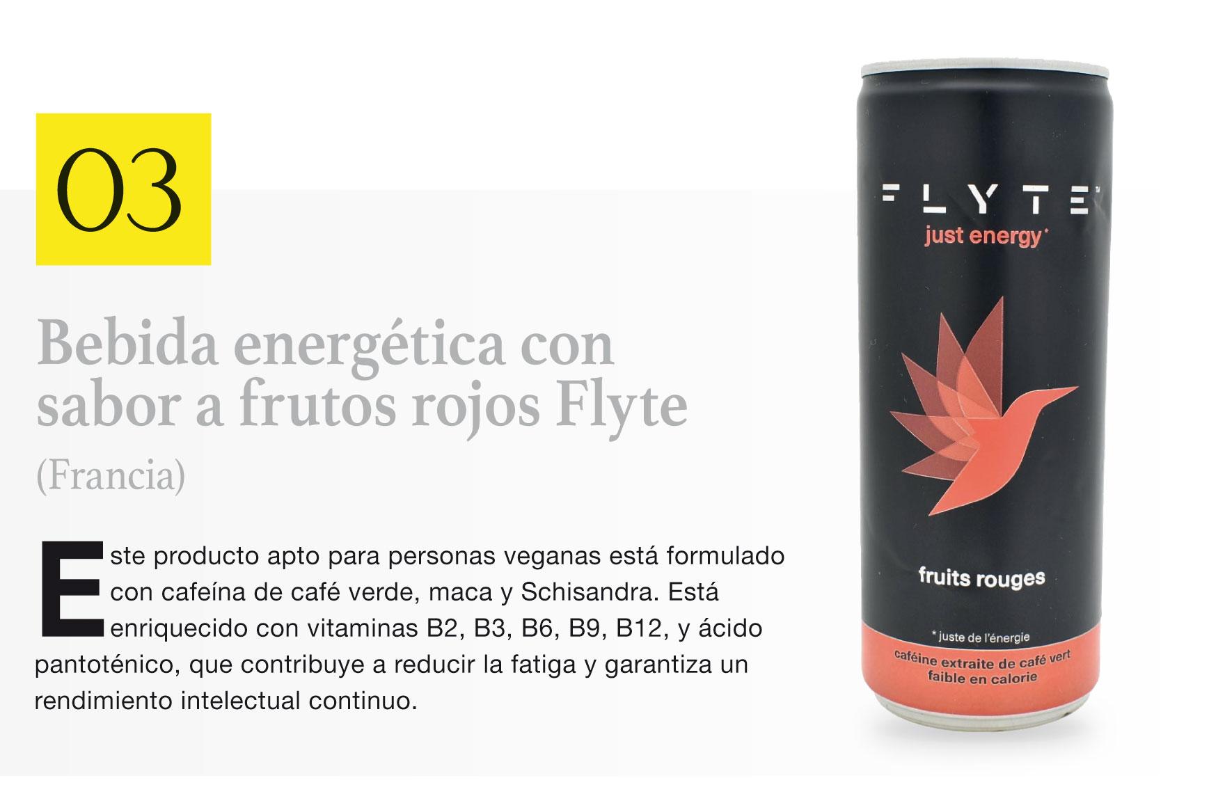 Bebida energética con sabor a frutos rojos Flyte (Francia)