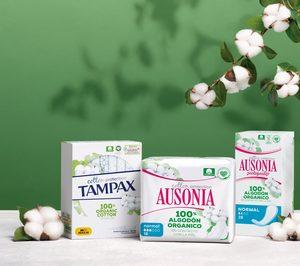 Así es la gama de Ausonia y Tampax con algodón orgánico