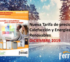 Ferroli lanza su nueva tarifa de precios de Calefacción y Energías Renovables