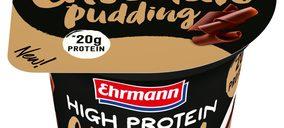 Ehrmann prosigue su crecimiento en el mercado español y lanza natillas altas en proteínas