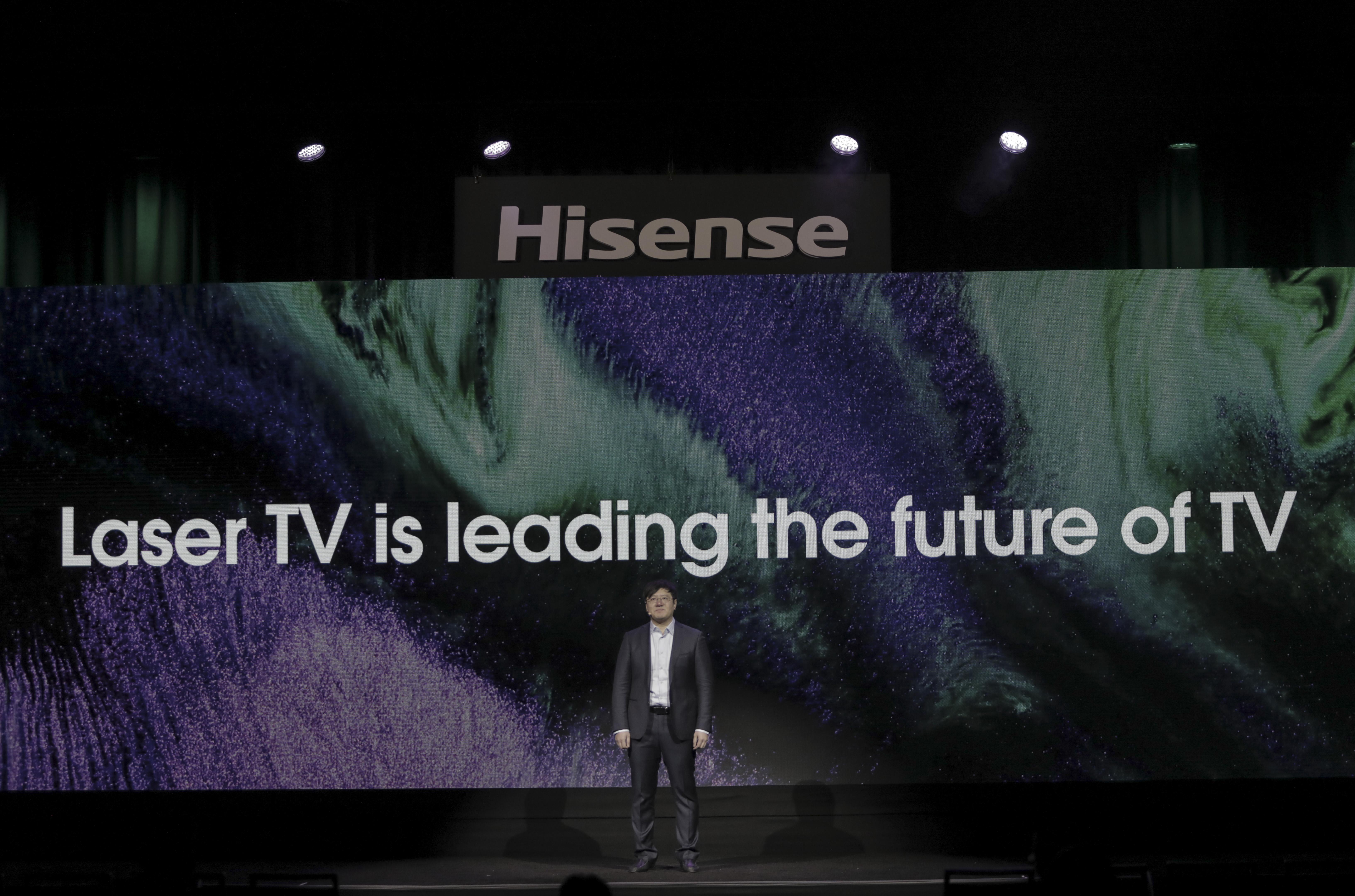 Hisense muestra su nueva gama de Laser TV en CES Las Vegas 2020