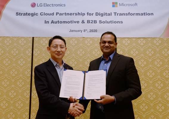 LG y Microsoft crearán nuevos sistemas inteligentes para automoción