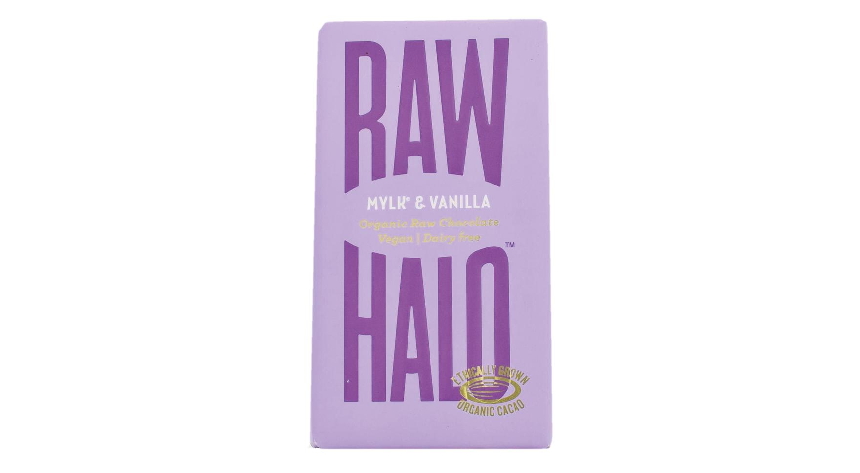 Tableta de chocolate ecológico puro con MYLK y vainilla Raw Halo (7)