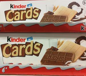 Ferrero introduce en varias cadenas las nuevas galletas Kinder Cards