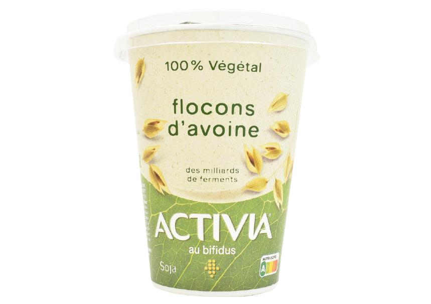 Yogur de soja Activia con copos de avena (1)