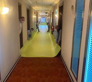 Gerflor dona 1.000 m2 de pavimento sanitario para la medicalización del Hotel Vía Castellana