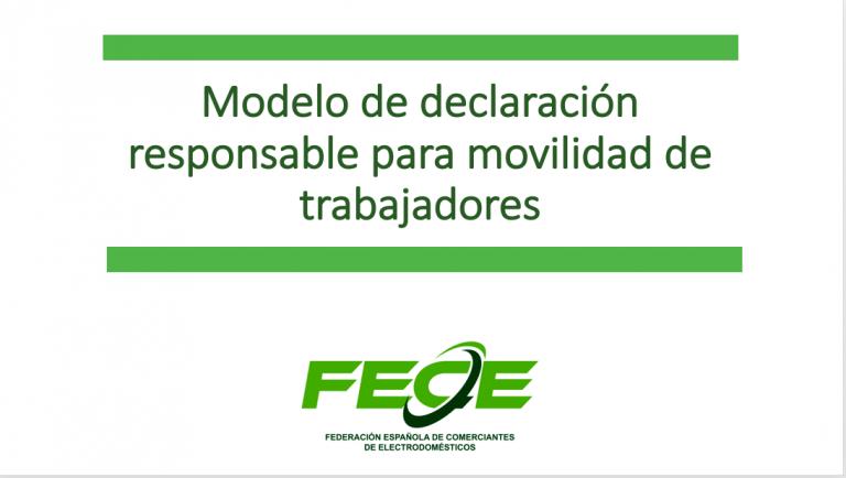Fece reivindica la capacidad de movilidad del sector electro a través de un modelo de declaración responsable