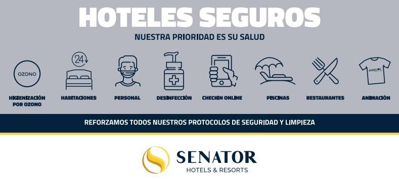 Senator Hotels & Resorts comienza la reapertura segura y progresiva de sus alojamientos