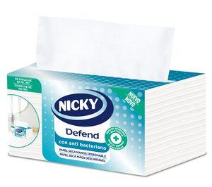 Sofidel presenta Nicky Defend, un papel secamanos desechable con loción antibacteriana