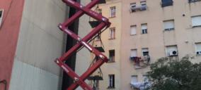 Mateco trabaja en el mantenimiento del monumento barcelonés Balanza Romana