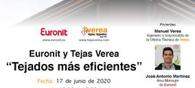 Tejas Verea y Euronit organizan dos webinar sobre cubiertas eficientes