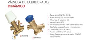 STH lanza nueva gama de válvulas de equilibrado