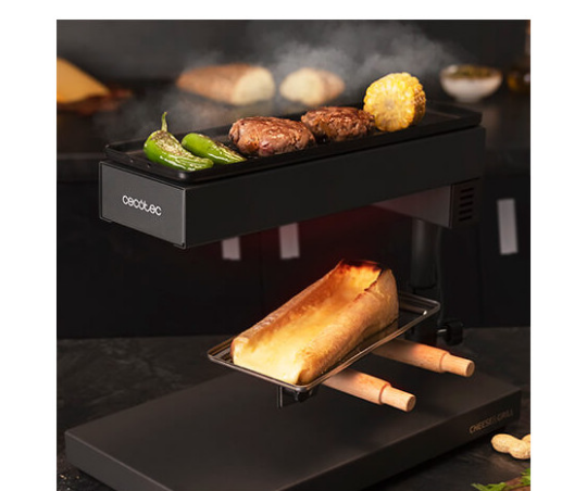 Cecotec, nueva raclette versátil y plancha de viaje