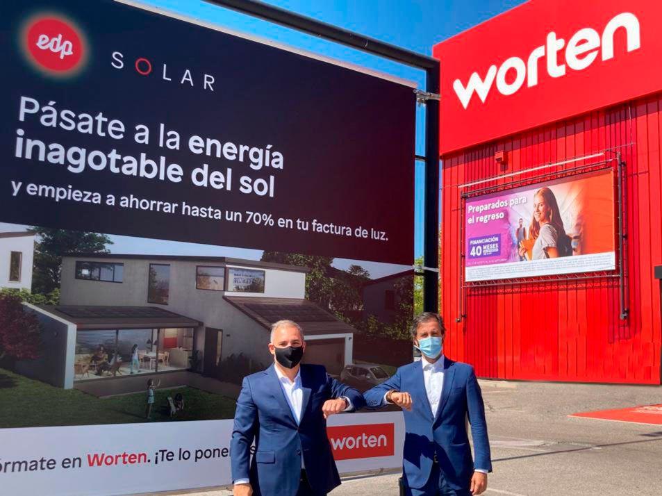 Worten y EDP se unen para comercializar instalaciones fotovoltaicas en España