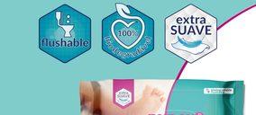 Nunex presenta sus toallitas infantiles biodegradables y desechables por el inodoro