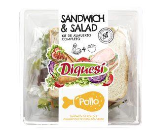 Diquesí presenta el nuevo concepto 'Sandwich&Salad', un kit de almuerzo completo