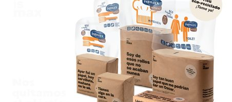 'Ismax' elimina el plástico en los envases de producto para gran consumo