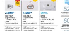 La OCU publica un estudio comparativo de las mejores calderas de condensación del mercado