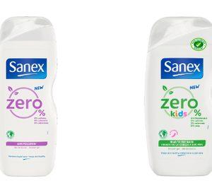 Sanex amplía su gama de geles de ducha Zero% y la dota de mayor sostenibilidad