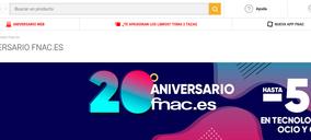 Fnac celebra los 20 años de su tienda online