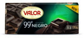 Valor lanza la tableta 99% cacao y renueva Huesitos