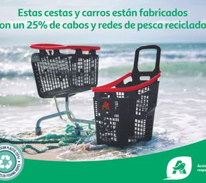 Alcampo incorpora carros y cestas reciclados de la mano de Araven