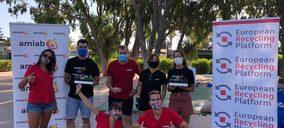 ERP y Amiab recogen más de una tonelada de residuos electrónicos y pilas usadas en Murcia